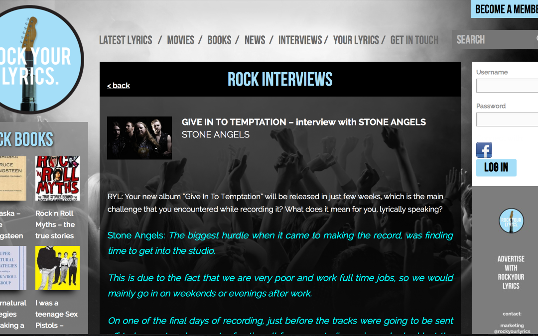Interview with Rock Your Lyrics